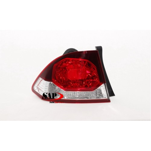 LEFT REAR TAIL LIGHT TO SUIT HONDA CIVIC FD (01/2009 - 02/2012)
